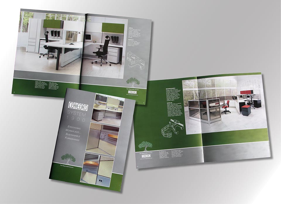 20 Page Office Furniture Catalog, Printed 4 Color Plus 2 Metallic Inks